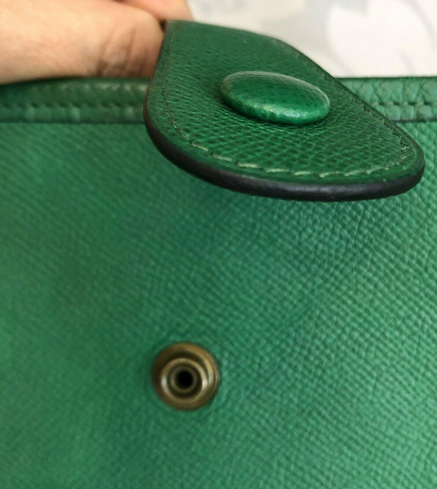 """HERMES Green Classic """"EVELYNE GM"""" Leather Tote/Shoulder Bag $$$$ image 5"""