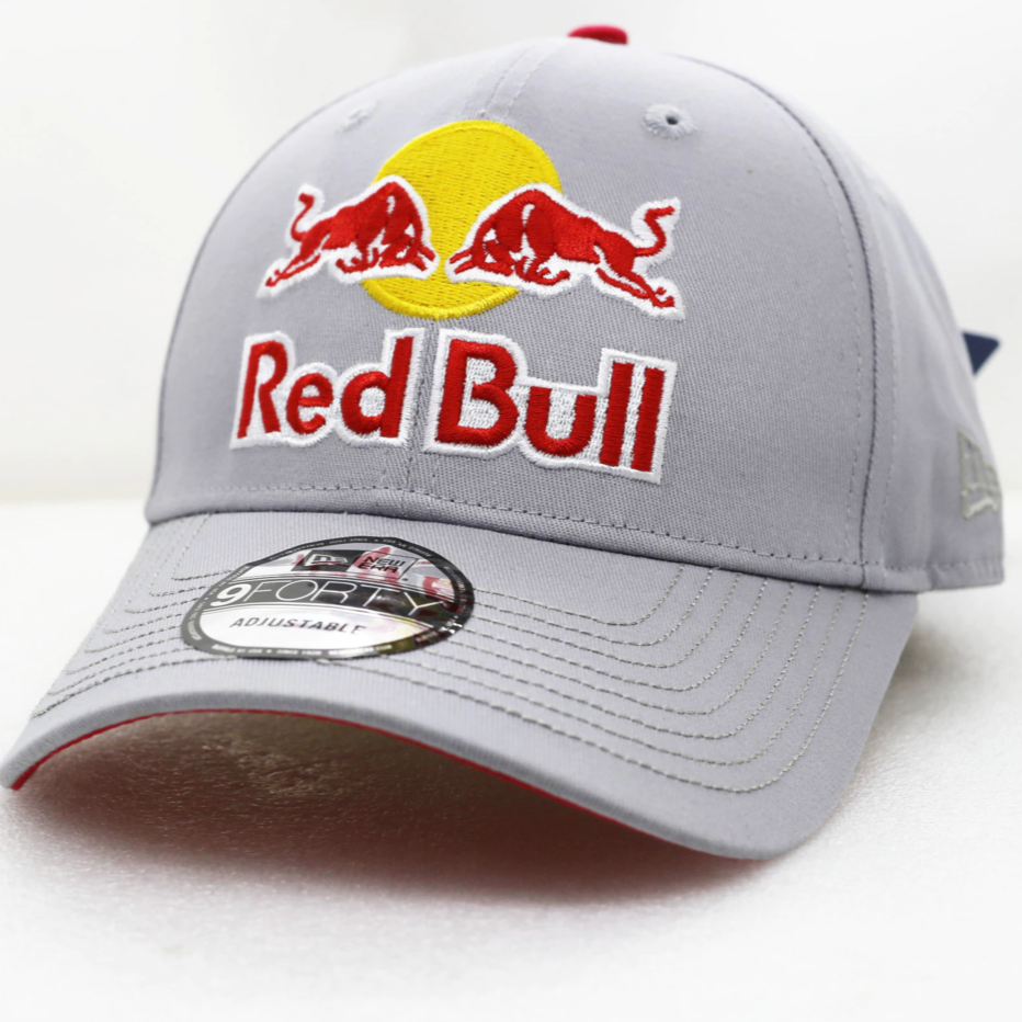 Red Bull Cap Adjustable Snapback Embroidered Gray White F1 Racing Hats - Hats