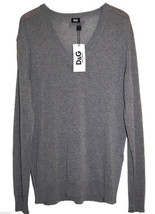 Dolce & Gabbana Gray Mens V-Neck Thin Sweater Size US 44 EU 54 NEW Retai... - $169.28