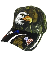 USA American Bald Eagle Patriotic Adjustable Baseball Cap CAMOUFLAGE - $11.95