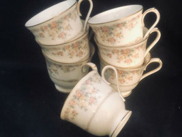Noritake Gallery 7246 Porcelain 6 Tea Coffee Cups Made in Japan - $32.90