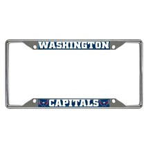 Fanmats NHL Washington Capitals Chrome Metal License Plate Frame Del. 2-4 Days - $14.84