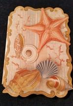 "1-Punch Studio blank Card-STARFISH-SEASHELLS-3.5""x 5""-WHITE envelope  - $2.25"
