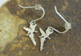 Sterling Silver Disney's Tinkerbell Dangle Earrings -.4g 30.37mm - $12.86
