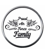 Proud USAF Air Force Family Love Our US Military 18MM - 20MM Snap Jewelr... - $5.95