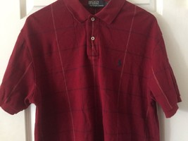 Polo by Ralph Lauren Red Short Sleeve Polo Shirt Men's Size Large plaid - $20.79