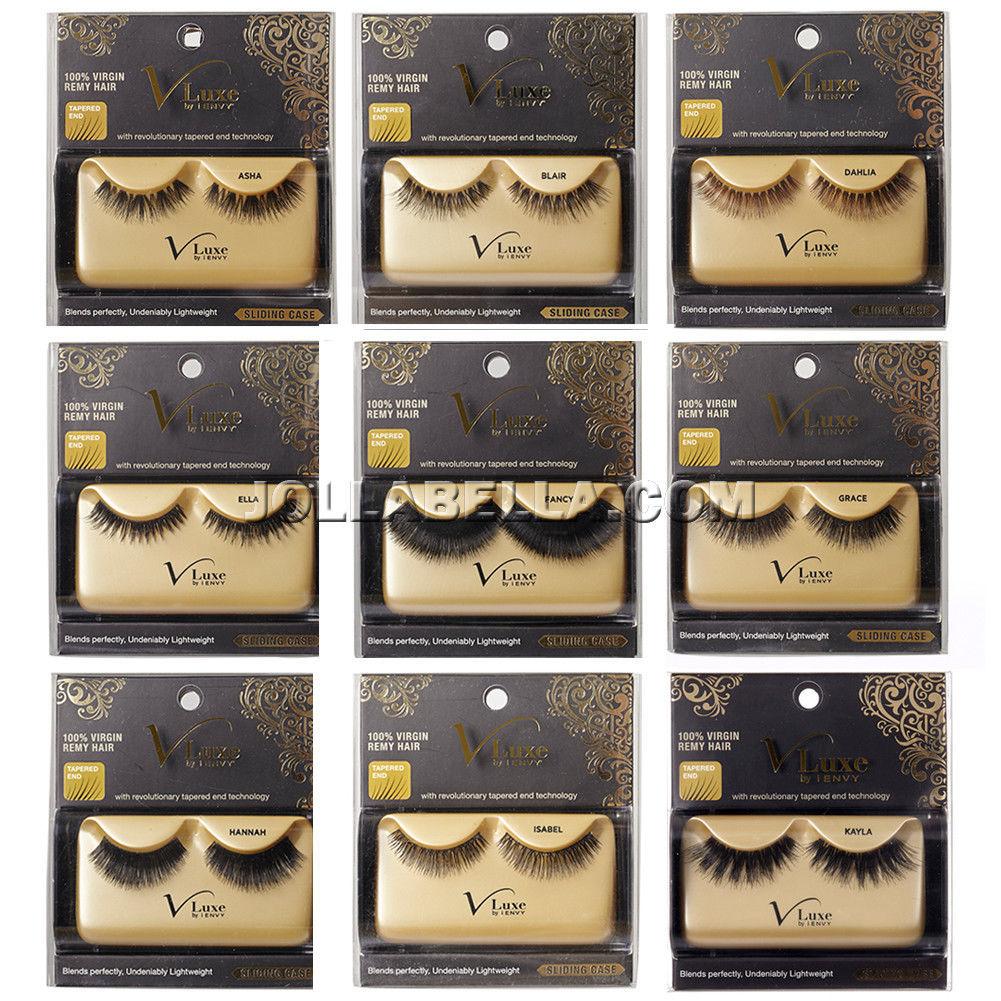 1fc2fc0e72a i Envy V-Luxe 100% Virgin Remy Hair Eyelash False Eye Lashes Strip Adhesive  *1PC