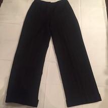 Lauren Ralph Lauren Womens Size 6P Wool Dress Pants Black Pinstripe Flat... - $27.55