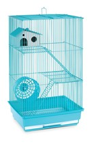 Small Animal Cage 3 Story Hamster Gerbil Rodent Pet House With Run Wheel... - $44.89