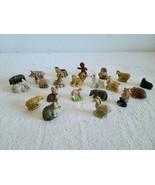 Lot of 21 Wade Whimsies Miniature Glaze Ceramic  Animal Figurines EUC Sh... - $49.99