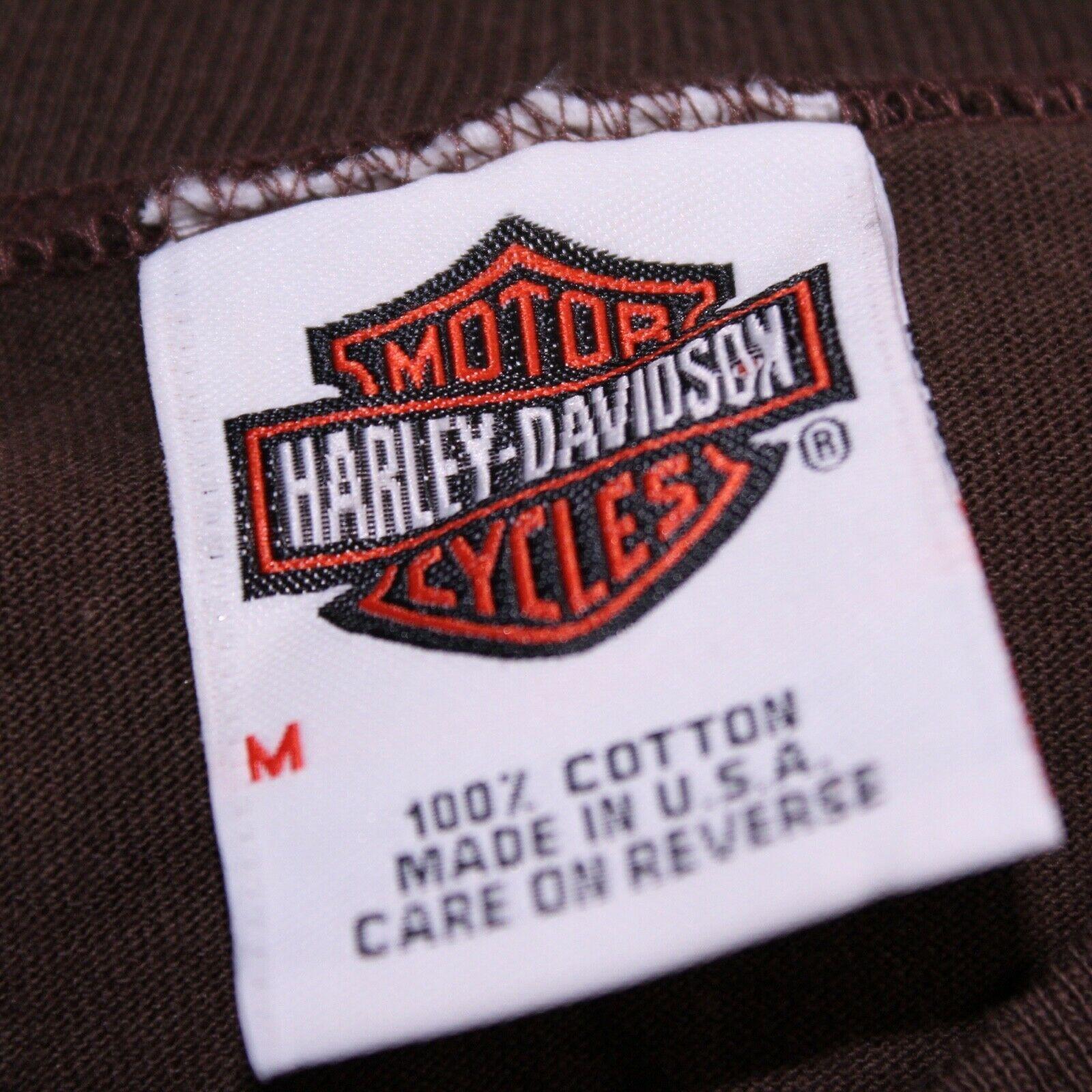 Harley Davidson Men's Medium M Waterloo, IA Graphic Tee Muscle T-Shirt Tank Top image 3