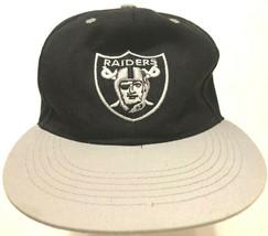 Oakland Raiders NFL AFC Adult Unisex Vintage Acrylic Black Gray Cap Hat ... - $22.76