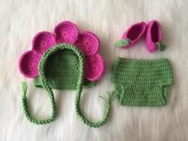 Handmade Flower Fairy Baby Hat Diaper Booties - $49.56
