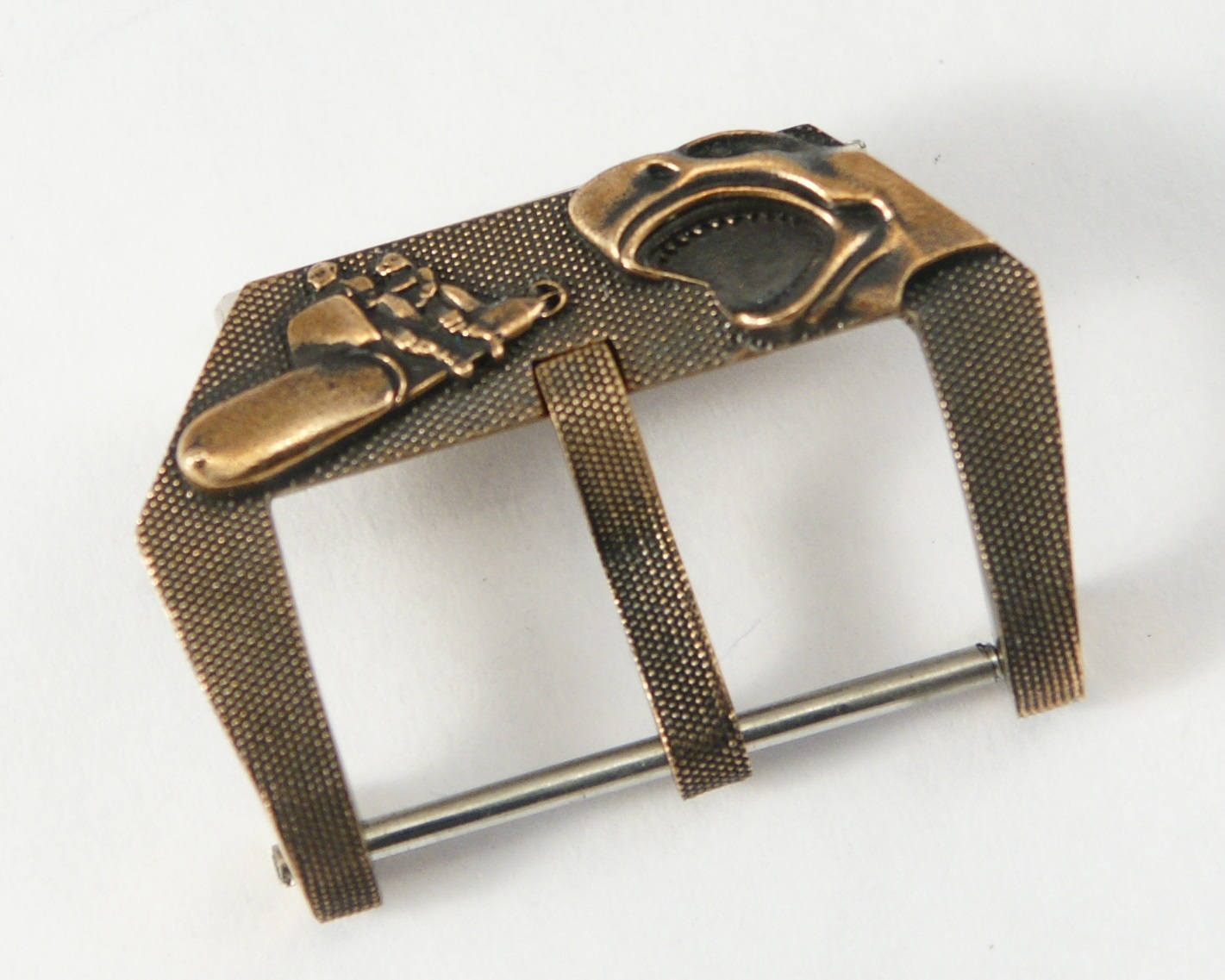 "Primary image for Watch Buckle ""SHARK AND SABOTEURS"" for Watch Strap Handmade Bronze"