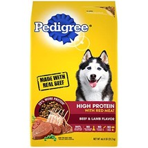 PEDIGREE High Protein - Beef and Lamb Flavor Adult Dry Dog Food, 46.8 Pound Bag