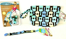 Sister Chic set- Binki Band, Dropper Stopper, and Tushy Tote- Groovy Guitar - $19.79