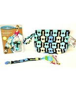 Sister Chic set- Binki Band, Dropper Stopper, and Tushy Tote- Groovy Guitar - $12.99