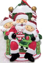 Christmas Ornament Visit With Santa  Break Resistant Ribbon Hanger New - $8.79