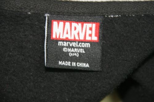 Marvel Youth Black and Gray Long Sleeve Light Weight Jacket Size S 14 image 8