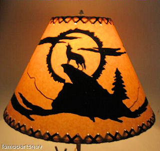 coyote rustic lamp shade