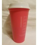 Starbucks 2013 Reusable Plastic Coffee Cup with Lid 16 oz NEW Free USA S... - $10.88