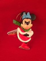 Minnie Disney Grolier Christmas Magic Ornament 104  Mickey Mouse  Ice Sk... - $14.79
