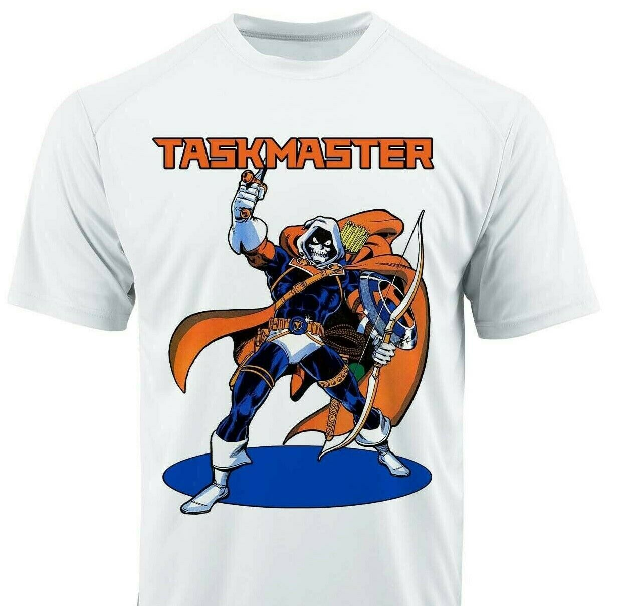 Taskmaster Dri Fit graphic T-shirt microfiber superhero retro comic Sun Shirt