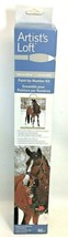 Artist's Loft Horse Winter Snow Wreath Paint By Number Kit NEW Sealed 16... - $16.82