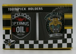 Transformers Tooth Pick Holders/ Shot Glass. Bumble Bee And Optimus Prime - $6.95