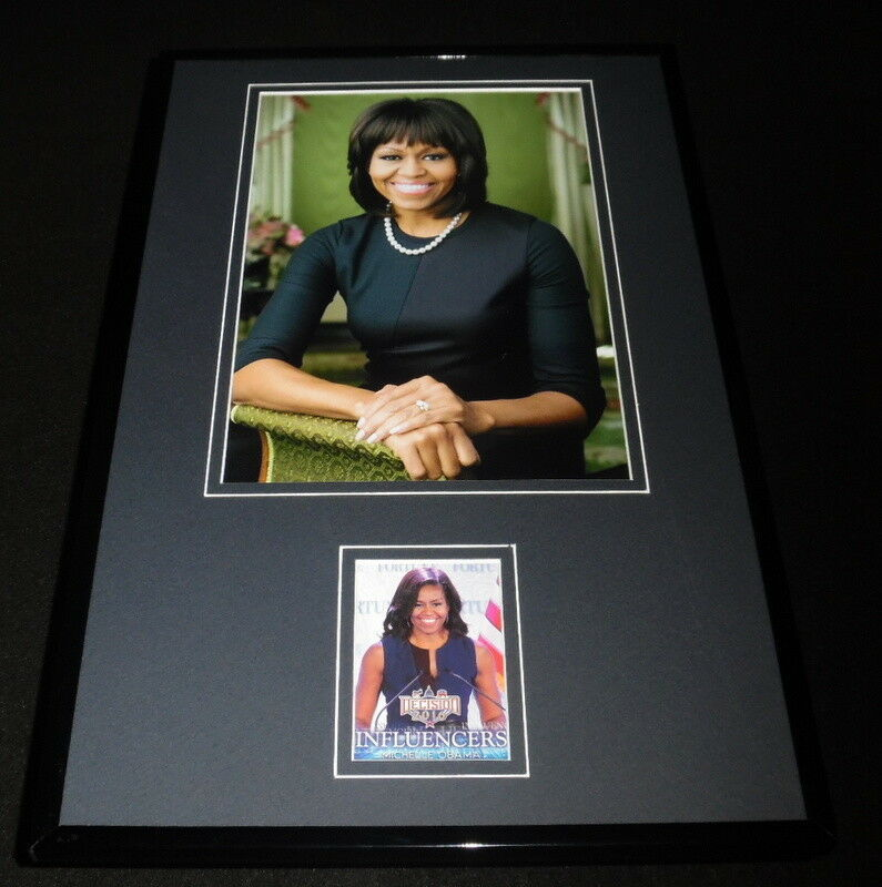 Primary image for Michelle Obama 11x17 Framed ORIGINAL Decision 2016 Card & Photo Display