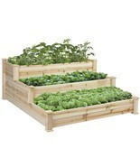 Eight24hours Raised Vegetable Garden Bed 3 Tier... - £150.86 GBP