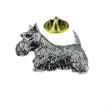 Scotland's Scottish Terrier Dog English Pewter clip on rear Pin ,Badge / tie pin