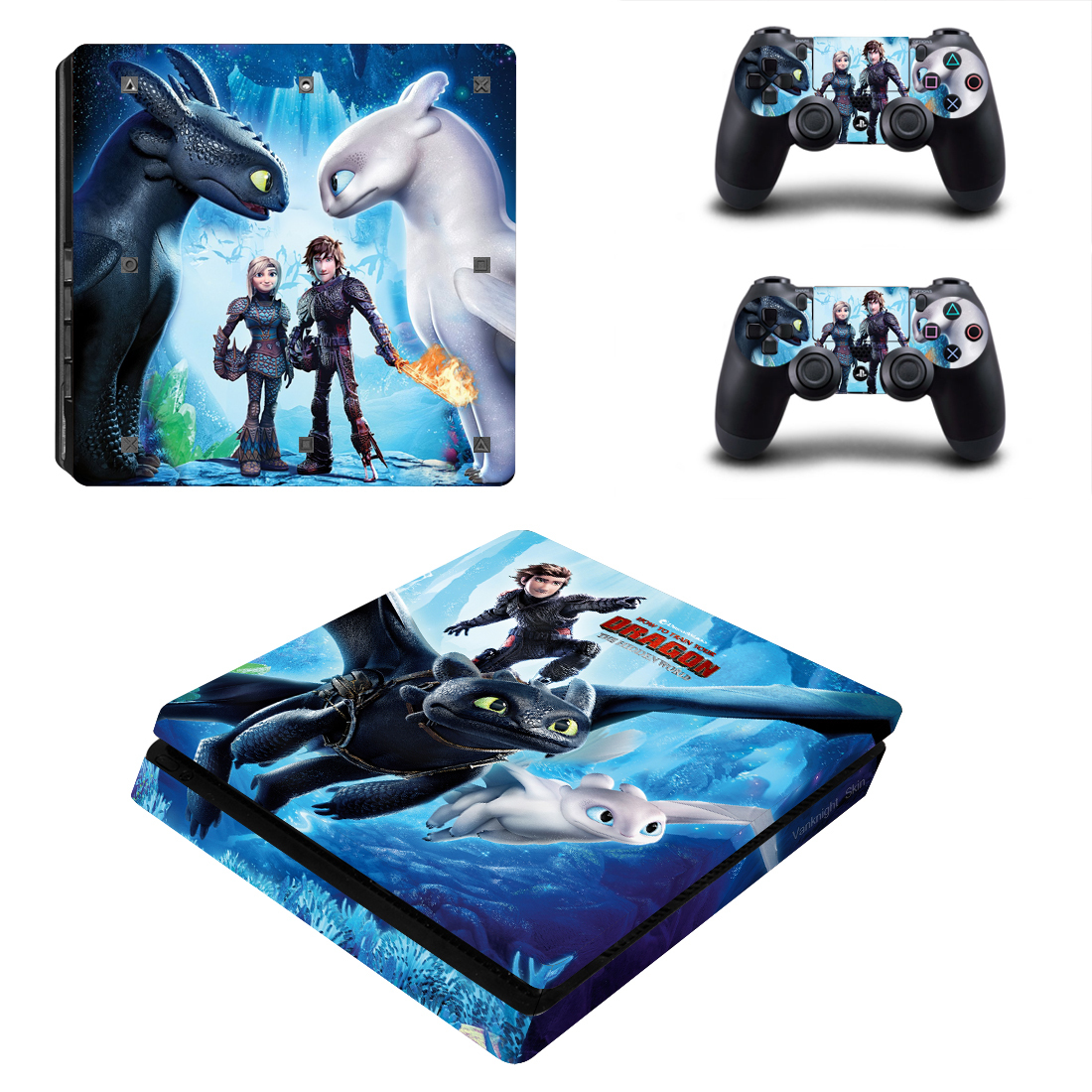 Ps4 slim consoles how to train your dragon 3 hiccup vinyl skins decals stickers 13 50