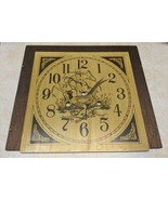 Vintage Metal Pheasant Clock Dial & Back Board - $16.82