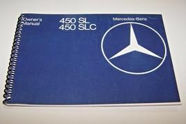 1978 Mercedes 450SL 450SLC Owners Manual W107 parts service new reprint - $59.39