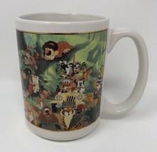 1990's Walt Disney World Coffee Mug Cup Jungle Safari Many Disney Characters - $14.01