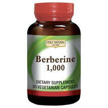Only Natural Berberine 1000mg 50 Vegetarian Capsules - $17.53