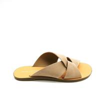 Marc Fisher Womens Bomie Flat Slide Sandal Suede Medium Brown Sz 8.5M  - $34.64