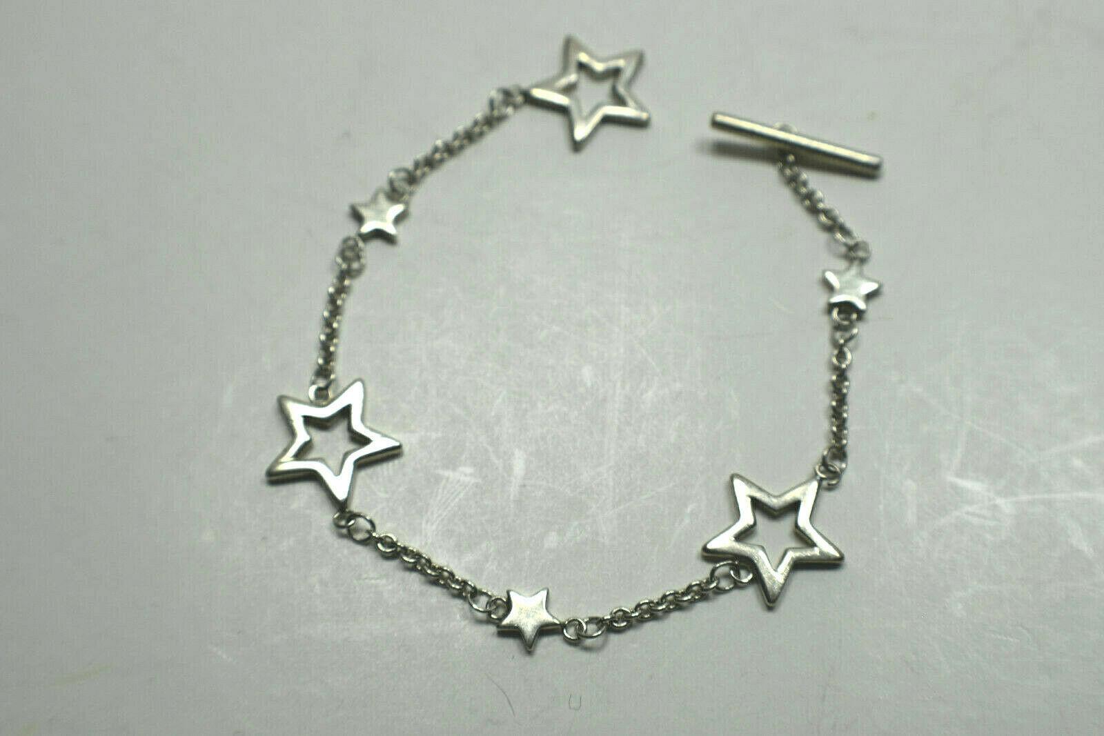 """Tiffany & Co Sterling Silver Star Bracelet Vintage 7"""" Vintage"""