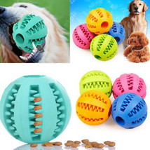 Durable Rubber Ball Chew Pet Dog Puppy Teething Dental Healthy Treat Cle... - $6.71