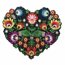 Flower Leaves Embroidered Patch Plant Heart Sew Iron 18CM Bags Jeans Hat... - $11.87