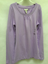Limited Too 14 Top Purple Lavender Sparkle Bling Long Sleeve NWT - $14.69