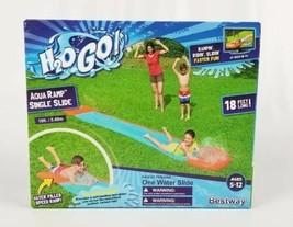 18 Feet Long Single Water Slide Summer Fun Aqua Ramp Bestway H2o-Go! NEW - $20.37