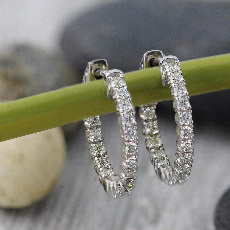 Delicated 130ct round vvs1 d diamond huggie hoop earrings