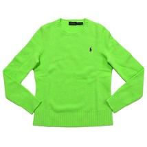 Polo Ralph Lauren Womens S SMALL SM Crew Neck Wool Cashmere Sweater GREE... - $92.57