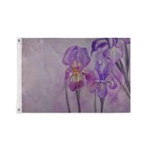 Custom Decor Flags Beautiful Blue Purple Wild Flowers Decorative Outdoor Flag - $24.99