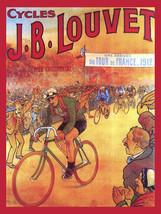 J B Louvet Bike Bicycle Cycle Vintage Advertisement Metal Sign - $19.95