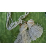 2 Large Banded Tun Tonna Sulcosa Seashell Decor Tassels South Pacific Ar... - $23.74