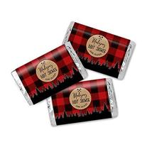 Lumberjack Forest Baby Shower Personalized Miniatures Candy Bar Wrapper Labels - $13.37