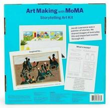 Art Making with MoMA Storytelling Art Kit Stencils Paint Brushes Jacob Lawrence image 2